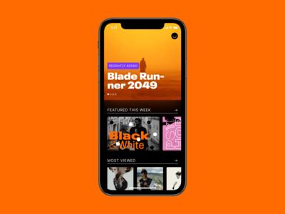 A quick brutalist app exploration netflix mobile app brutalism movies movie app movie design ui minimal
