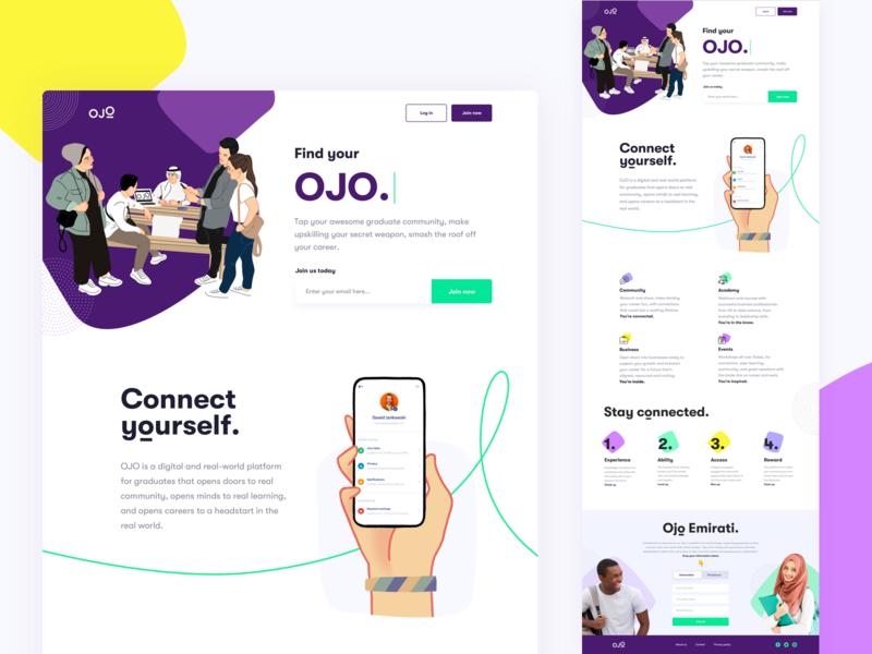 Find Your Ojo Website typography clean landing page interface webdesign website ux ui fireart studio fireart
