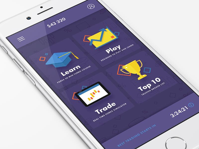 Trading App forex trading ux ui mobile interface fireart studio fireart design app