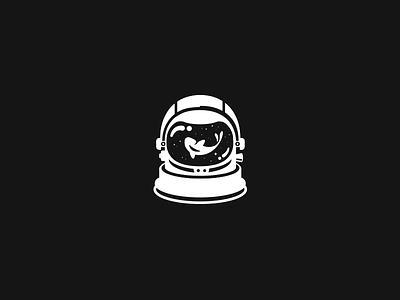 Astronaut fireart studio koi universe stars spaceman space astronaut minimal blackandwhite logo illustration fireart