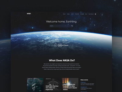 NASA website concept