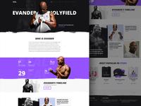 Evander Holyfield Landing Page