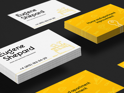 Home improvement business card by barbara morrigan dribbble home improvement business card reheart Image collections