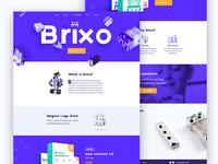 Brixo landing page