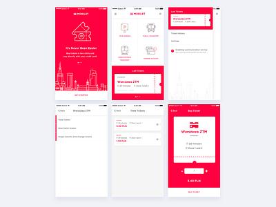 Mobilet App Redesign redesign ux ui fireart studio fireart transport ticket app design application app