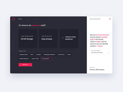 Brief Randomizer Concept design brief concept ux ui webdesign fireart studio fireart