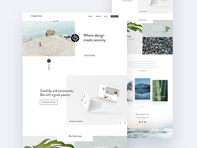 Design Shrine ux fireart studio fireart studio serenity ui clean portfolio landing page website webdesign