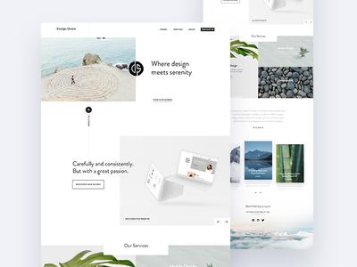 Design Shrine ux fireart studio fireart studio serenity ui clean portfolio landing page website webdesign