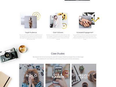 Kickstagram Homepage instagram ux ui clean marketing landing page website webdesign