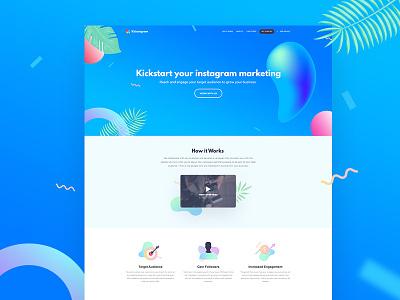 Kikstagram Alternate Concept webdesign website landing page clean ux ui instagram studio fireart fireart studio