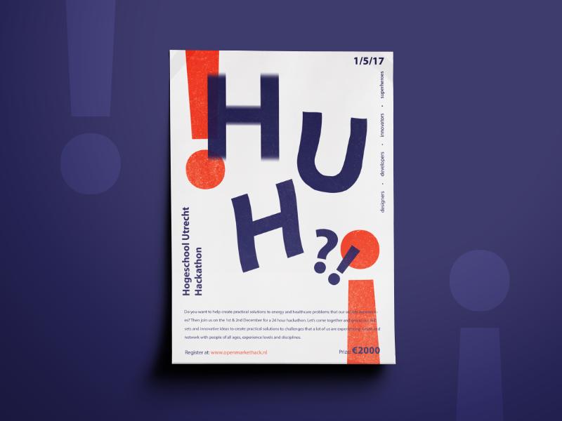 Hackathon Flyer typography graphic design poster fireart studio fireart