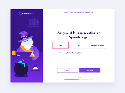 Picky Magician alchem wizard character design character illustration interface survey webdesign fireart fireart studio ux ui
