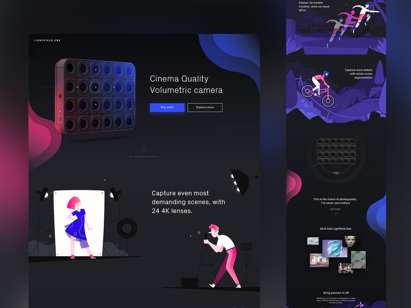3D camera website design