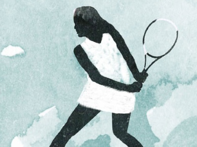 Flow Im Tennis Illustration