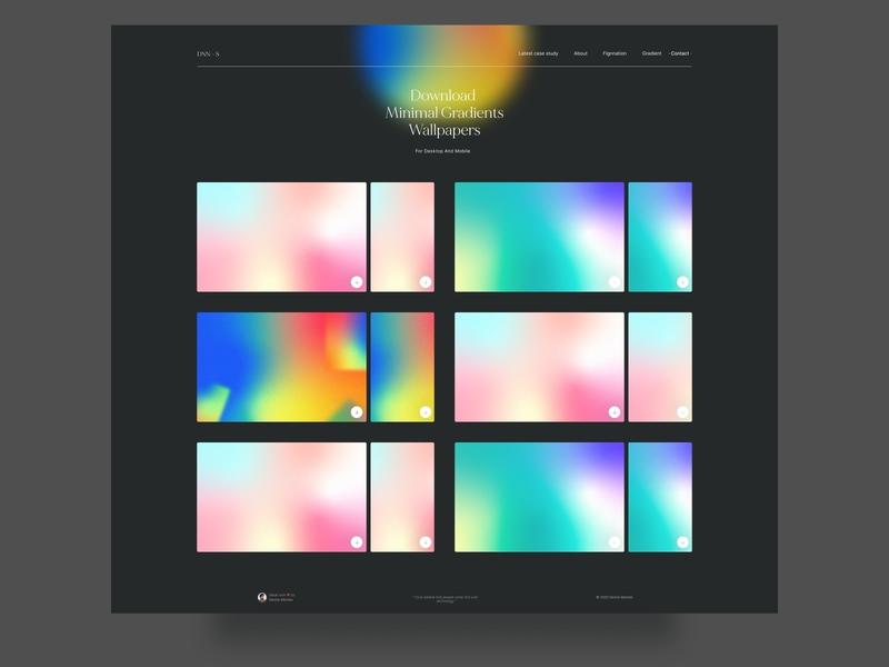 Minimal gradient wallpapers for desktop and mobile minimalist minimal figma dark ui dark mode gradient gradients
