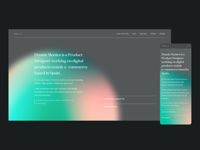 New personal portfolio Dennis Montes Digital Product Designer digital product design ux uiux ui product designer portfolio product design