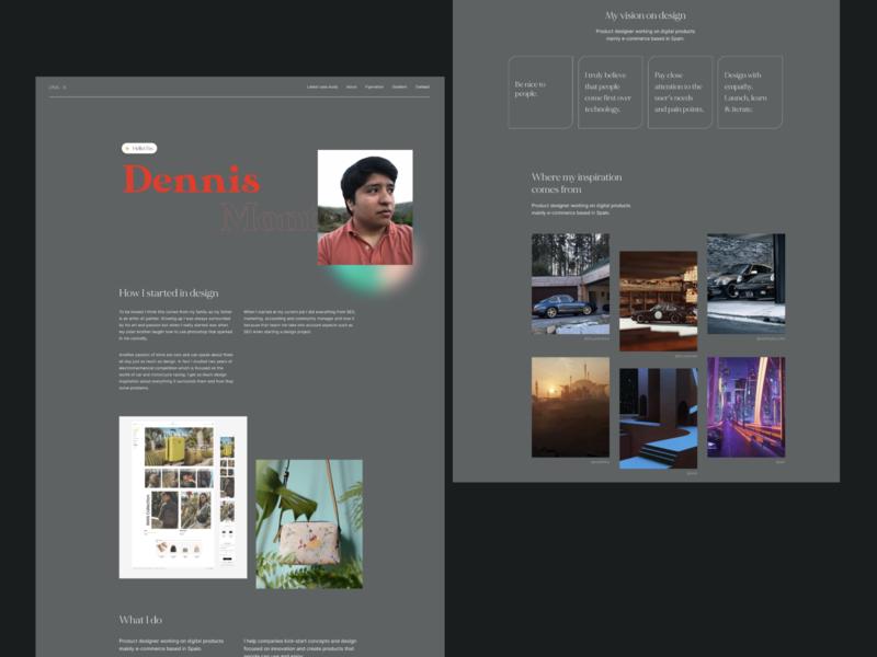 About me – Portfolio 2020 modern ux ui  ux ui uiux portfolio product design product designer