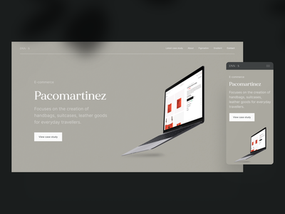 Case study Pacomartinez – Portfolio 2020 e-commerce casestudy case study modern portfolio ux uiux ui product designer product design