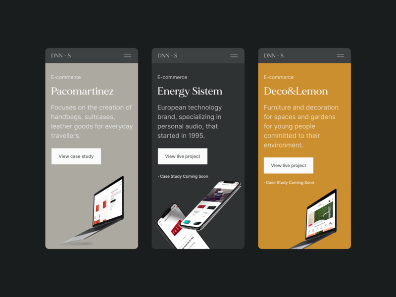 Case study Mobile – Portfolio 2020 mobile modern ux uiux ui portfolio product designer product design