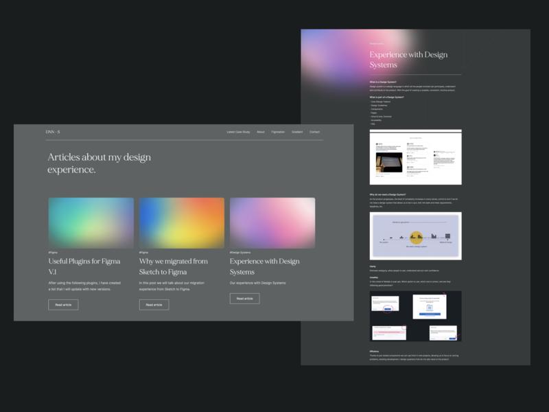 Blog – Portfolio 2020 uiux ux ui modern portfolio product designer product design