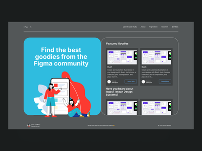 Fignnation – Portfolio 2020 figma uiux ux ui modern portfolio product design product designer