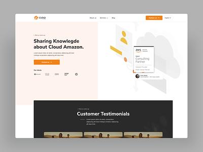 Cloud Levante Redesign WIP wip redesign website design web design webdesign aws cloud amazon cloud design modern ux ui