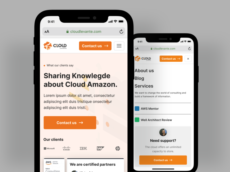 Cloud Levante mobile redesign WIP wip website design web design webdesign ux ui redesign modern design cloud amazon cloud aws