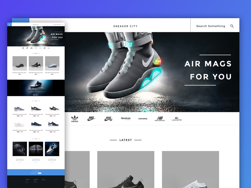 Sneaker City E-commerce Concept modern shop store sneaker shoe sketch ecommerce e-commerce ux ui
