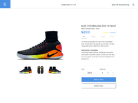Shoes ecommerce product page by dennis montes