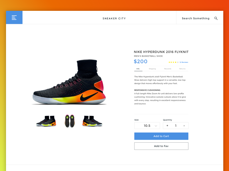 Sneaker City E-commerce Product Page Concept sneakers store sneaker sketch shop shoe modern e-commerce ux ui