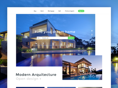 Real estate home page exploration