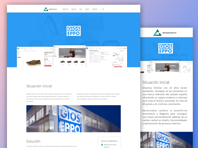 Gioseppo Case Study shoes magento devopensource agency ecommerce ux ui