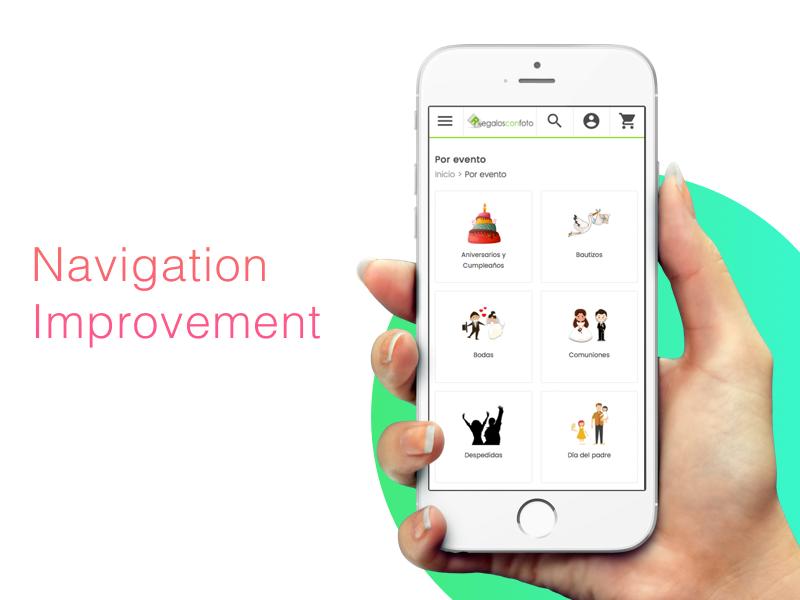 Ecommerce Category Navigation improvement responsive mobile category navigation magento e-commerce ui ux ecommerce