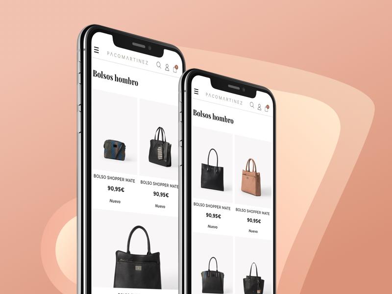 Pacomartinez Category Mobile ux ui sketch shop handbag modern mobile magento fashion e-commerce ecommerce