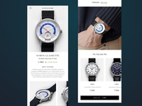 Watch Product Page Mobile