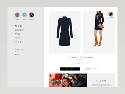 Product Page Invision Studio Ecommerce web design magento concept fashion ux invision invision studio design product modern shop e-commerce ecommerce ui