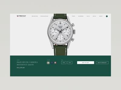 Tag Heuer Store Concept tag heuer invision web design fashion design product invision studio watch concept modern e-commerce ecommerce ux ui