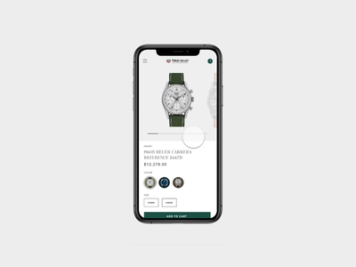 Tag Heuer Store Product Page Concept Mobile