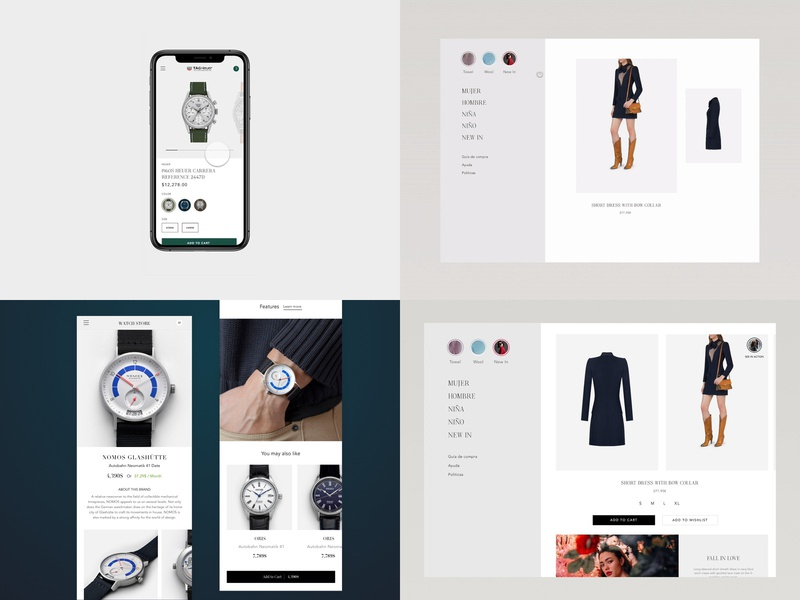 My Top Shots of 2018 handbag invision studio app watch web design concept fashion mobile shop modern sketch ecommerce e-commerce design ui
