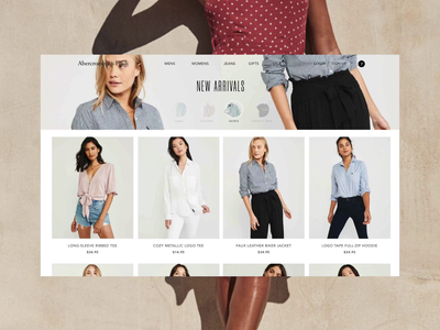 Concept ecommerce home and category design sketch invisionstudio concept fashion shop modern ecommerce ui