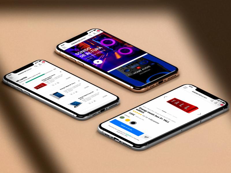 Energy Sistem energy sistem mobile web design product devopensource modern sketch magento ux ui e-commerce ecommerce