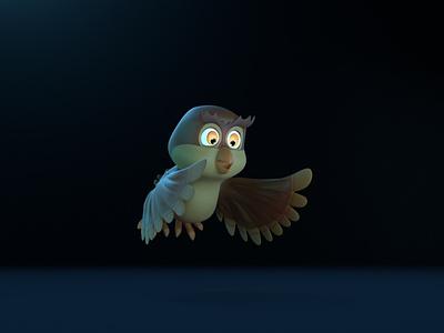 Owl - 3D Character 3d character modeling 3d character design 3d character octane render cinema 4d animation 3d model 3d animation 3d 3d modeling
