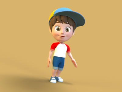 Boy Character Design 3d art 3d character modeling 3d character design 3d character octane render cinema 4d animation 3d model 3d animation 3d modeling