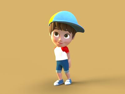 Boy Character Design 3d 3d character 3d character modeling 3d character design octane render cinema 4d animation 3d model 3d animation 3d modeling