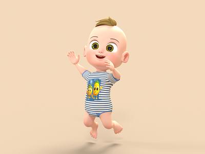 Baby Boy 3D Character 3d model 3d 3d character design 3d character modeling 3d character octane render cinema 4d animation 3d animation 3d modeling