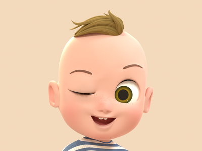 Baby Bou 3D Character 3d 3d character modeling 3d character design 3d character octane render cinema 4d animation 3d model 3d animation 3d modeling