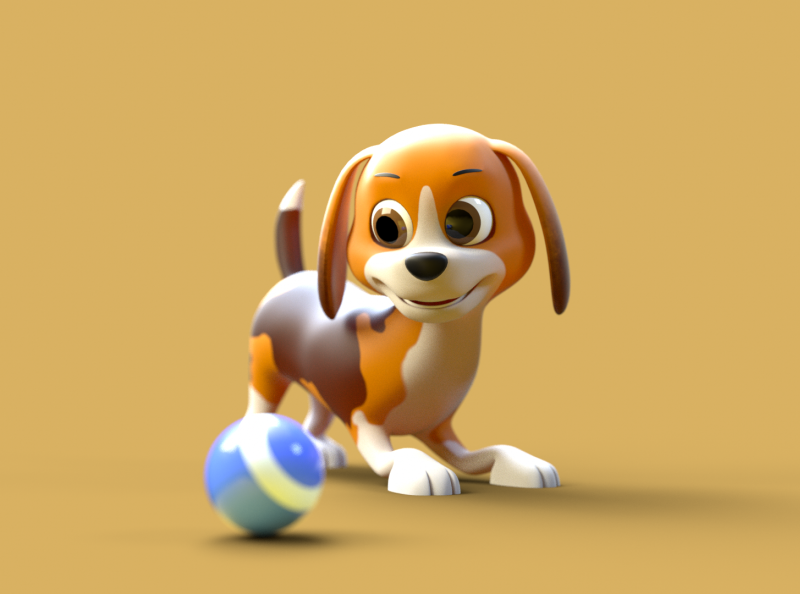 Little Dog - 3D Character 3d character modeling 3d character 3d character design 3d octane render cinema 4d animation 3d model 3d animation 3d modeling