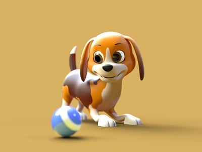 Little Dog - 3D Character 3d character modeling 3d character 3d character design 3d octane render cinema 4d animation 3d model 3d animation 3d modeling