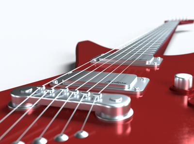 Electric Guitar [3D Modeling]