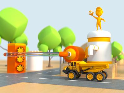 Playground 001 octane render cinema 4d animation 3d art 3d model 3d animation 3d 3d modeling